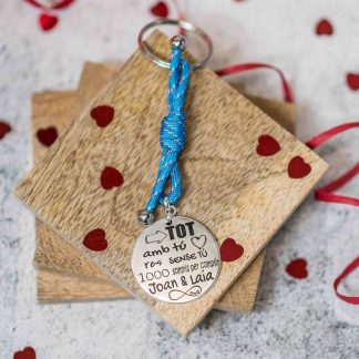 Clauer regal San Valentí tot amb tú res sense tú