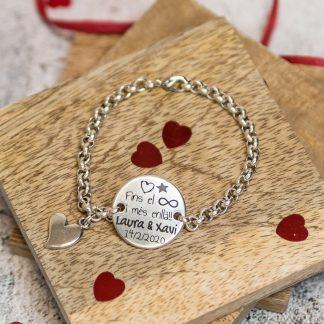 Polsera Sant Valenti personalitzada